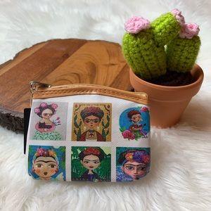 Frida Kahlo Mini Coin Purse Zipper Pouch